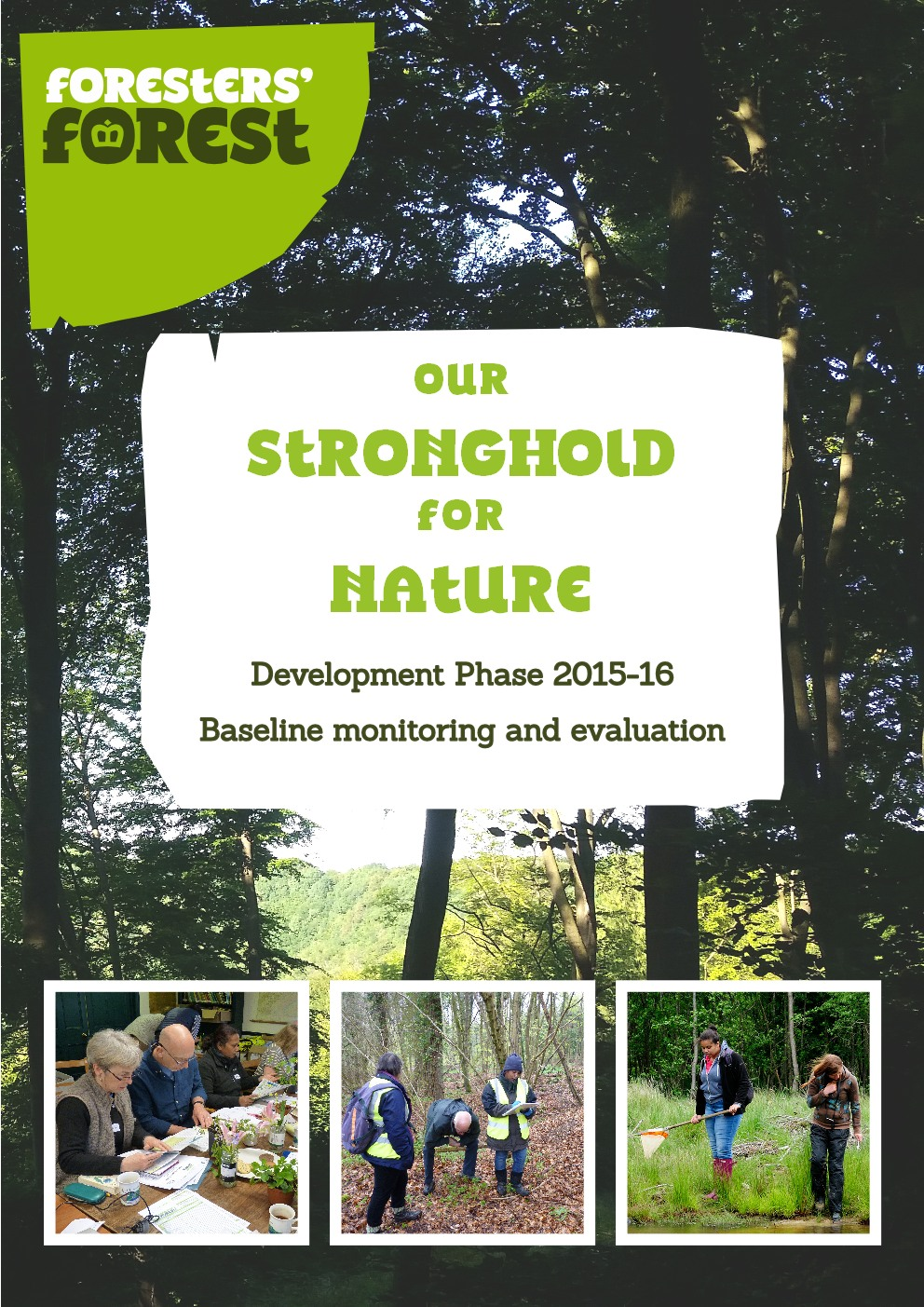 a picture of the front cover of GCER's Biodiversity Baseline Report for the Foresters' Forest HLF project